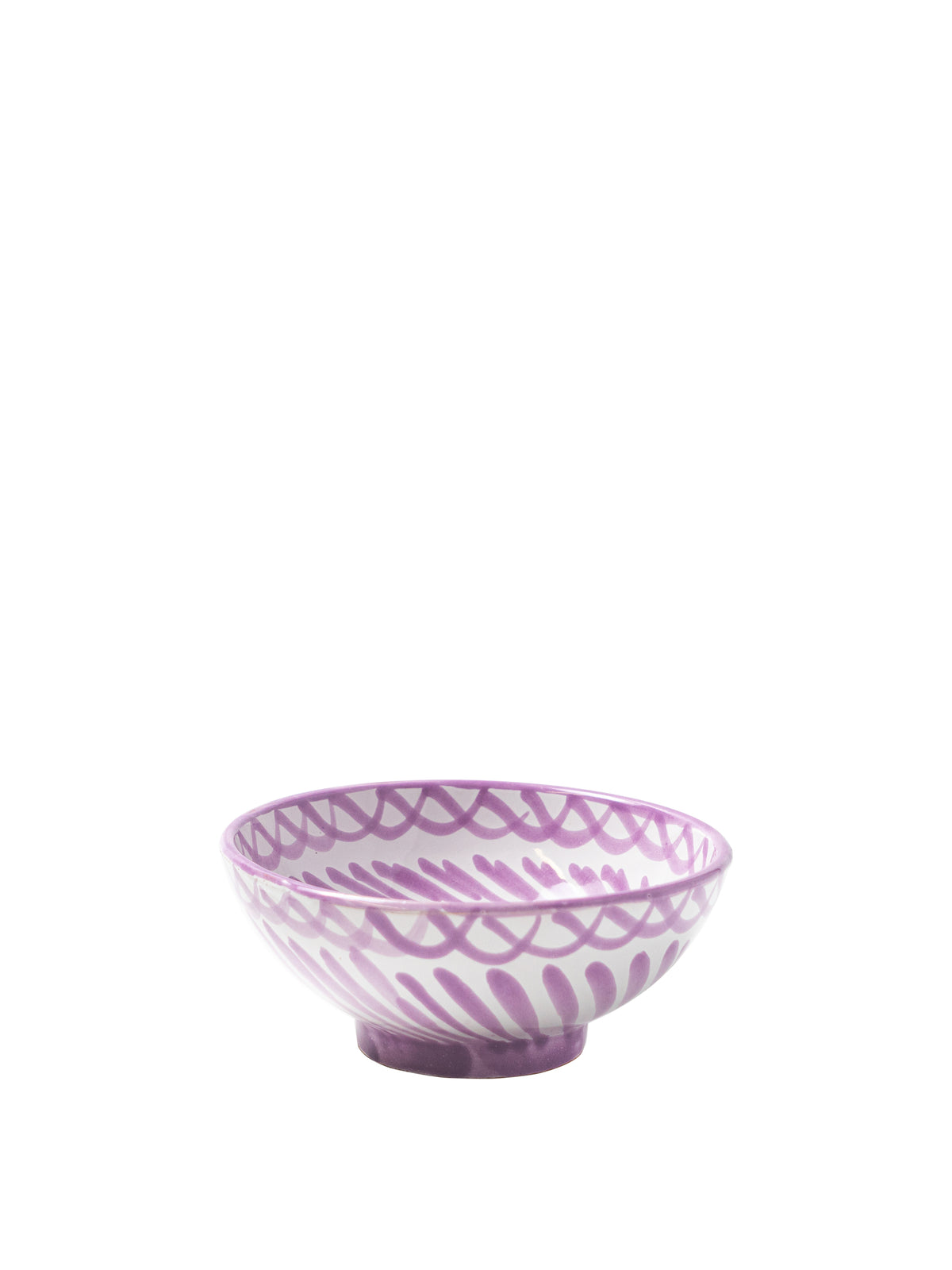Casa Lila Small Bowl with Hand-painted Designs