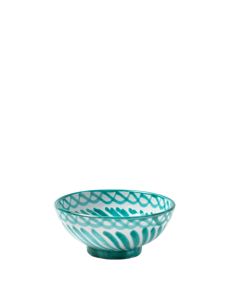 Casa Verde Small Bowl with Hand-painted Designs