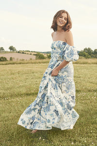 Wethersfield Dress in Jacobean Blue