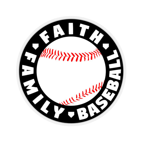 Faith Family Baseball - Sticker - ShopBasesLoaded
