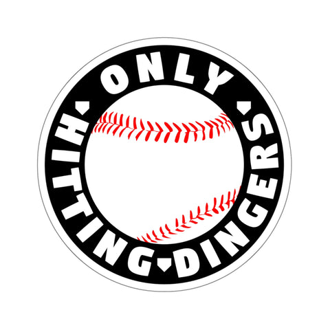 Image of Only Hitting Dingers - Sticker - ShopBasesLoaded