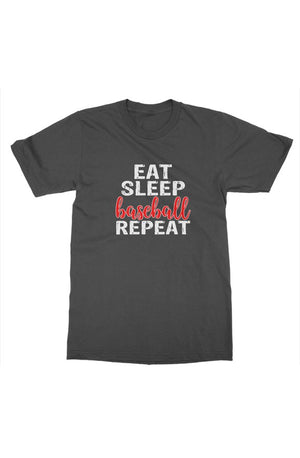 MEN - Eat Sleep Baseball Tee - ShopBasesLoaded