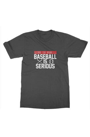 MEN - Baseball Is Serious Tee - ShopBasesLoaded