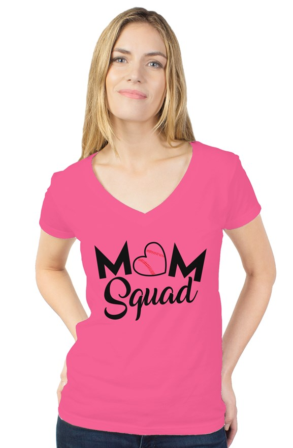 WOMEN - Mom Squad V-Neck - ShopBasesLoaded