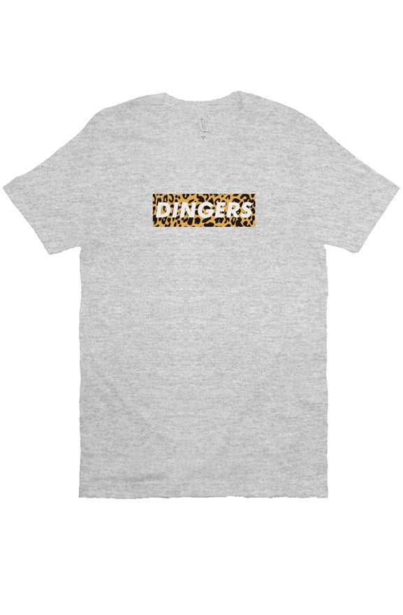 MEN - Dingers Box Tee (Leopard) GREY