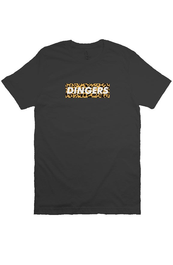 MEN - Dingers Box Tee (Leopard) BLACK