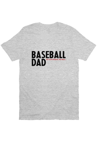 Image of MEN - Baseball Dad Strikeout GREY