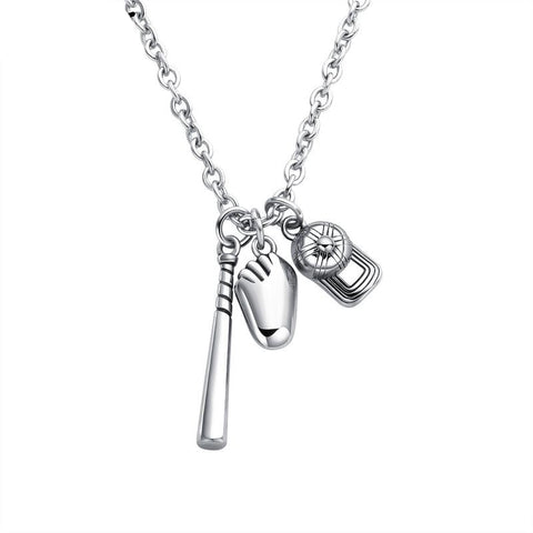 Baseball Charm Necklace - ShopBasesLoaded