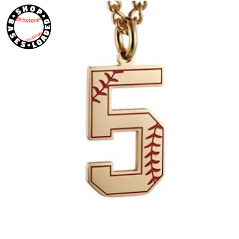 Image of Seamed Jersey Numbers Necklace - ShopBasesLoaded