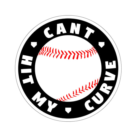 Image of Can't Hit My Curve - Sticker - ShopBasesLoaded