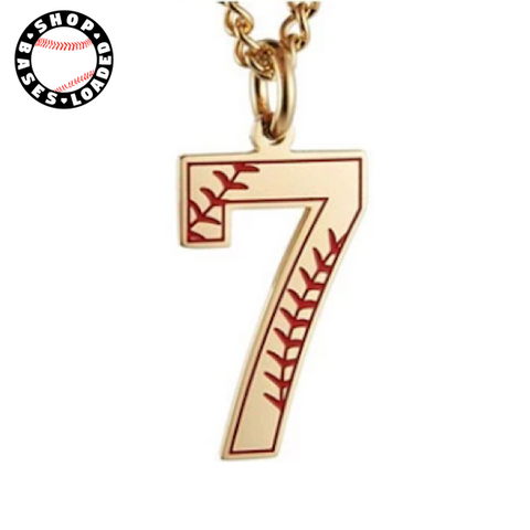 Seamed Jersey Numbers Necklace - ShopBasesLoaded