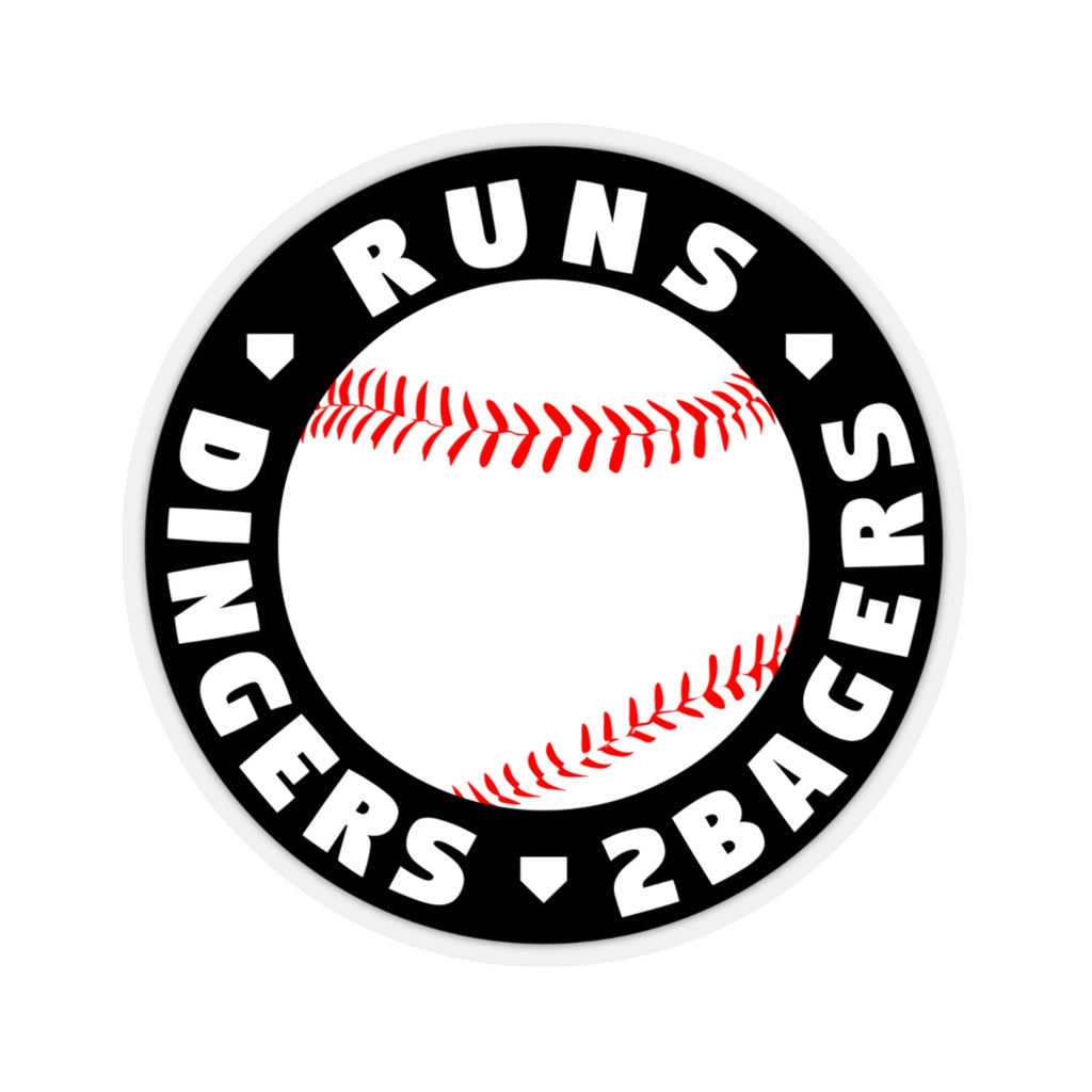 Runs Dingers 2Bagers - Sticker - ShopBasesLoaded