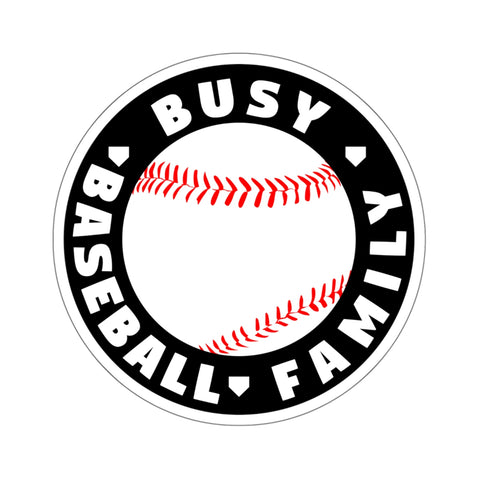 Busy Baseball Family - Sticker - ShopBasesLoaded