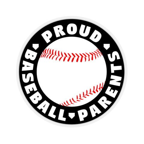 Image of Proud Baseball Parents - Sticker - ShopBasesLoaded
