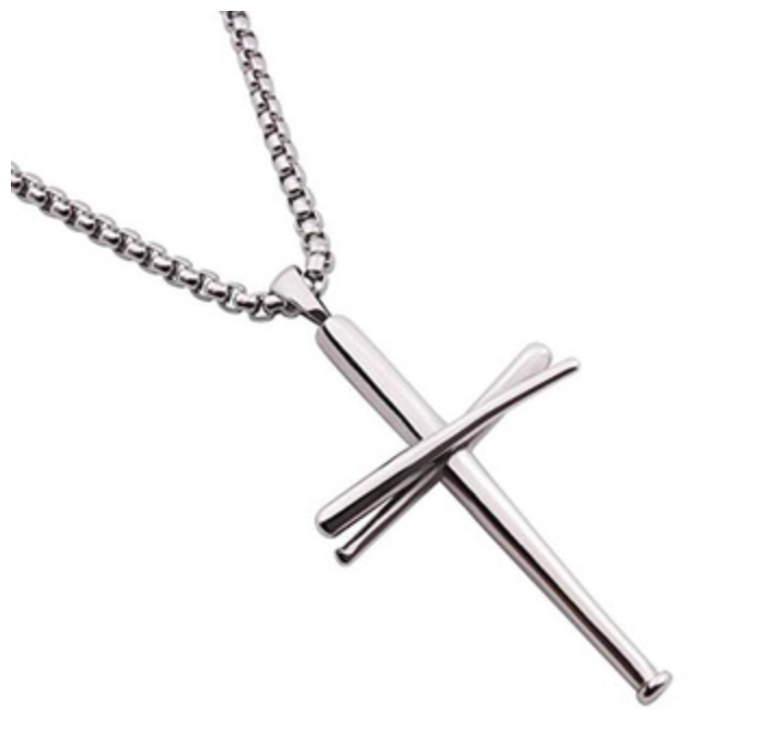 Original Baseball Bat Cross Necklace - ShopBasesLoaded