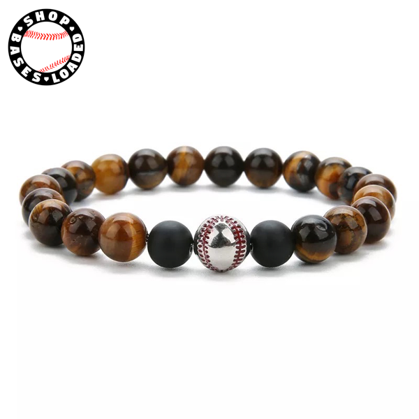 Tiger Eye Baseball Bracelet - ShopBasesLoaded