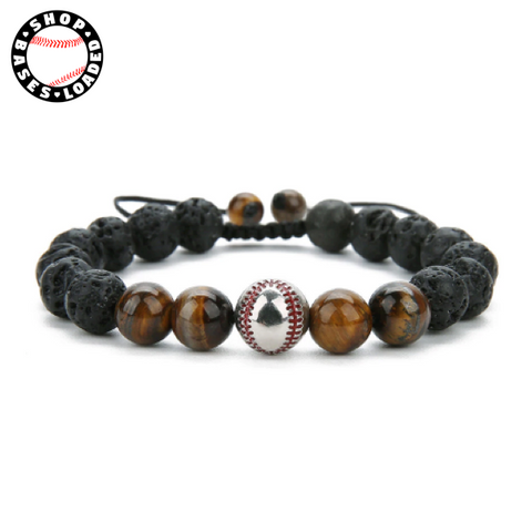 Earth Stone Baseball Bracelet - ShopBasesLoaded