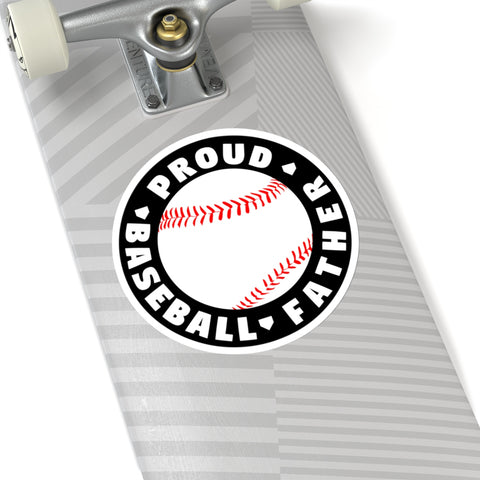 Image of Proud Baseball Father - Sticker - ShopBasesLoaded