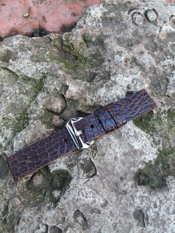 Gator watch strap leather men's croc strap