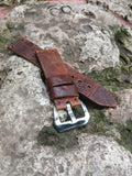 Quality Crocodile watch strap vintage style - GORIANI