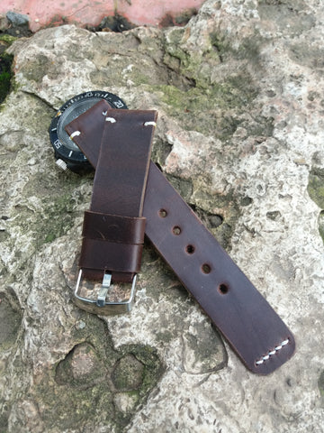 Crazy Horse Quality Italian leather watch strap vintage style - GORIANI