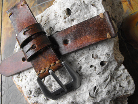 Watch Strap - Full Grain Premium Quality Italian Leather Suitable for Panerai Stainless Steel - GORIANI