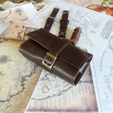 Leather Watch Roll 3,4,5 or 6 pocket Leather Roll up pencil case Travel Case Canvas Men - GORIANI