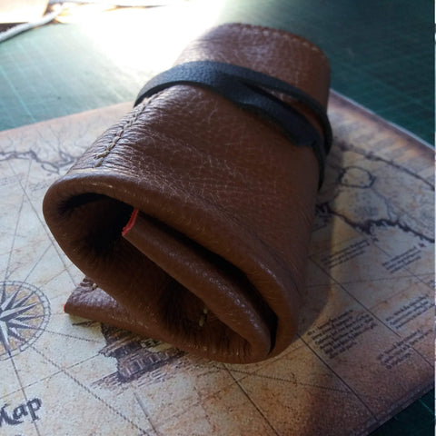 Toll Roll Leather Watch Roll Personalized  Leather Roll up pencil case - GORIANI
