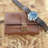 Personalized  Leather Watch Roll Best Travel Cases Watches Women Make up pouch - GORIANI