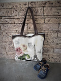 Women Tote Handbag Shoulder Bag  Large Tote Hobo Bag Leather Canvas - GORIANI