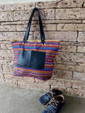 Tote Bag Canvas Leather Beach Tote Bohemian Hugo Handmbag Girlfriend Gift Idea - GORIANI