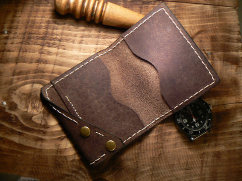 Slim Wallet Men's - Bifold Wallet Minimalist - Buffalo Leather Bifold wallet - Cards Holder - GORIANI