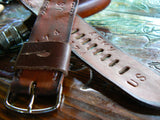 Brown Watch Band For Apple watch 38mm 42mm High Quality Genuine Leather - GORIANI