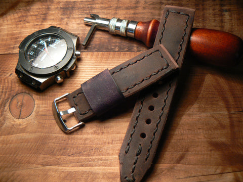Brown Men Watch Band Vintage Apple Watch Leather Band watchbands watch accessory - GORIANI