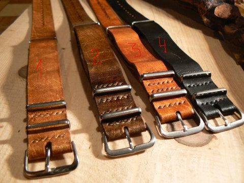 18mm 20mm 22mm ZULU Leather Strap Watch band Crazy Horse - GORIANI