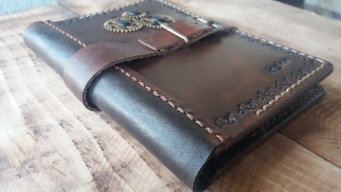 Passport Cover Steampunk Passport Cover Brown Leather Travel Holder Passport Wallet - GORIANI