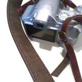 Leather camera strap for DSLR , Nikon , Canon camera  Personalized christmas Birthday Gift - GORIANI