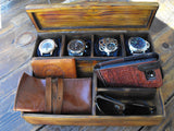 Rustic Watch Box Wood Chest Rustic Organizer Watches Wood Box Chest - GORIANI