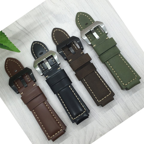 For Garmin vivoactive 24 x 16mm Quality Genuine Leather Watchbands Mens - GORIANI