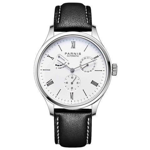 Parnis Power Reserve Automatic Watch Mechanical Bussiness Men's Watches - GORIANI