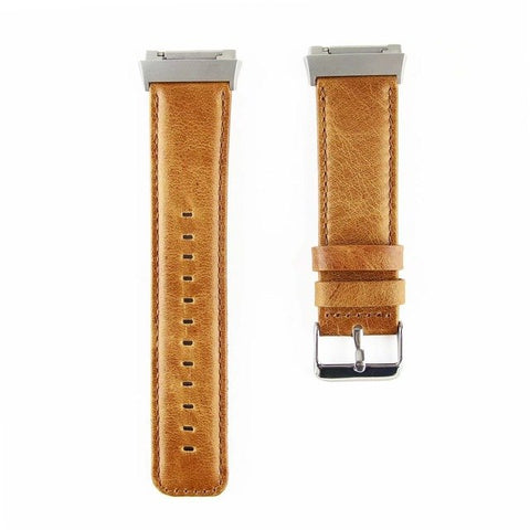 Watchband for Fitbit Ionic Genuine Leather Strap - GORIANI