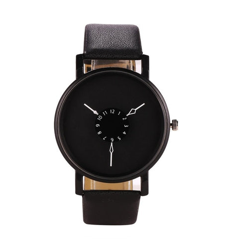 Quartz Fashion Simple Artificial Design Wrist Band Men Watch Leather Women - GORIANI