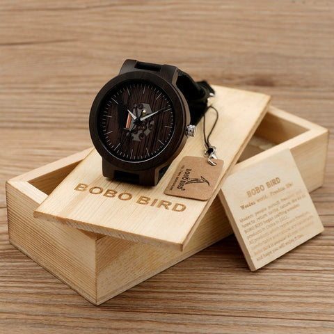 BOBO BIRD Wooden Watches For Men Casual Watch Black - GORIANI
