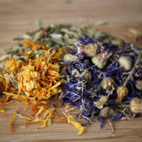 Hay Topper - Marigold & Blue Cornflower
