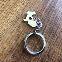 Stainless Steel Bunny Keyring