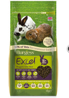 2kg Burgess Excel Rabbit Pellets with Mint