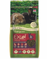2kg Burgess Excel Rabbit Pellets with Cranberry & Ginseng for Mature Rabbits