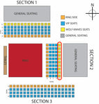 EllisMania Nineteen Tickets- WolfKnive East Side Seating