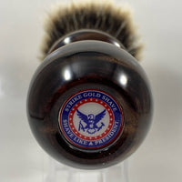 POTUS Brown/Copper Shaving Brush with Hair Force Fan Knot - by Strike Gold Shave (Pre-Owned)