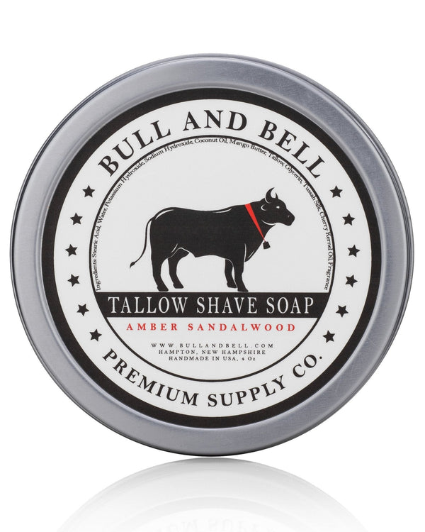 Amber Sandalwood Shaving Soap - by Bull and Bell Premium Supply Co.